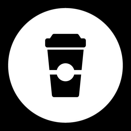 coffee cut icon